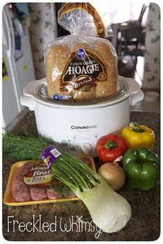 let's hear it for another easy crockpot recipe! Great for summer to keep the kitchen cool & a wonderful fall/winter comfort food--Crockpot Brats