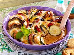 Gebackene Ratatouille mit Mozzarella