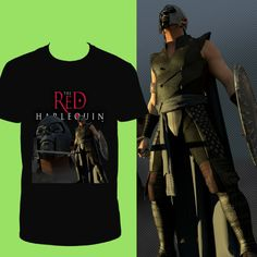 Black Warrior with The Red Harlequin Logo T-Shirt.  https://www.amazon.com/dp/B072J272MC
