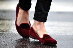Velveteen slippers... yes please.    The Fuller View