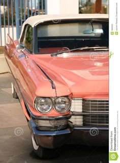 Vintage Pink Car Stock Photography - Image: 1800902
