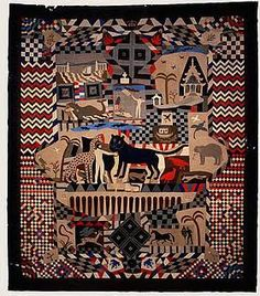Welsh Tailor's Quilt, about 1842, from the National Museum of Wales