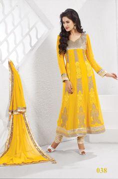 #Unstitched Designer Salwar Suits# Embroidery Party Wear Anarkali Suit.