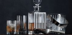 Boulevard Cut Crystal Barware Collection-12 styles, including martini, ice bucket, caviar server, and more | Restoration Hardware