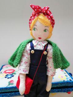 Land Girls, Little Darlings, Attic, Art Dolls, Vintage Inspired, Sewing, Artwork, Handmade, Inspiration