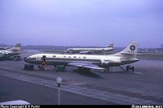 VARIG Sud SE-210 Caravelle III at Rio de Janeiro Galeao International Airport in 1963...