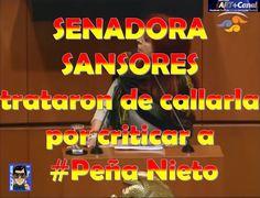 SENADORA SANSORES trataron de callarla por criticar a Peña Nieto