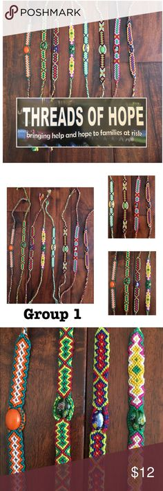 "Flat Bracelet Bead Accent (See how 2 order below) How to order:  1.  LMK your item/color combo 2. Pricing: 2 bracelets = $12, 2 keychains = $15       1 bracelet + 1 keychain = $12  *Bracelets are approx 12"" long  *Woven threads by hand   Ask ALL questions before buying, sales are final. I try to describe the items I sell as accurately as I can but if I missed something, please LMK FIRST so we can resolve it before you leave < 5rating.   TRADES/OFFLINE TRANSACTIONS LOWBALLING ✅Use OFFER…"