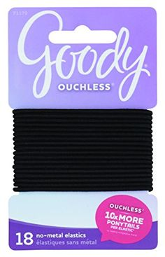 Goody Classics Elastic Large Thin Black 18 Count ** Check out this great product.(This is an Amazon affiliate link and I receive a commission for the sales)