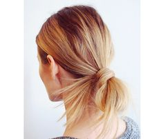 "10 Easy Summer Hair Styles: Looped Ponytail. It only takes a minute for this D.i.Y ""done"" but still a little, ""undone"" look. #SelfMagazine"