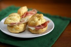 proscuitto and parmesan stuffed gougeres