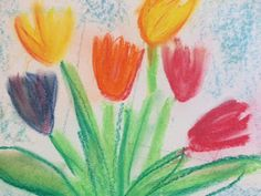 Fröken Bild - Tips och förslag för bildlärare o andra: vårblommor i kollagevas