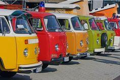 VW bus pops of color #campervan