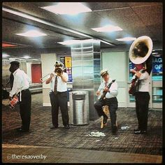 Musical greetings at Louis Armstrong Airport, Kenner, La http://families.visitjeffersonparish.com