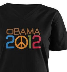2012 Obama Peace Sign Shirt by Democrat Brand