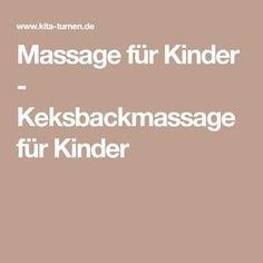 Massage für Kinder - Keksbackmassage für Kinder