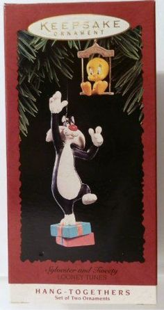 1995 Sylvester and Tweety Looney Tunes Hallmark Ornament * Check this awesome product by going to the link at the image.