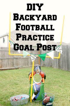 Creative Designs by Toni: DIY Backyard Football Practice Goal Post - All For Garden Football Goal Post, Goals Football, Football Boys, Chiefs Football, Homecoming Floats, Sports Theme Classroom, Football Birthday, 7th Birthday, Football Crafts