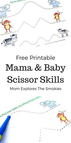 This awesome scissor skills printable is a fun activity to helps kids improve their fine motor skills. And, it's totally free!