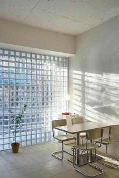 Cafe Interior, Shop Interior Design, Cafe Design, Interior Design Inspiration, House Design, Habitat Collectif, Glass Blocks Wall, Coffee Shop Design, Interior Architecture