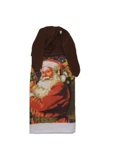 Santa Dish Towel Kitchen Hand Towel Christmas by SuesAkornShop