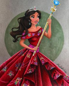 """maxxstephen: """"Princess Elena of Avalor is finished! I love her so much ❤️🤓 I've gotten a LOT of feedback from this piece, some of you love her, don't know who she is, or don't like her at all. Disney Princesses And Princes, Disney Princess Drawings, Disney Princess Art, Disney Princess Dresses, Disney Fan Art, Disney Drawings, Disney Girls, Disney Love, Disney Magic"""