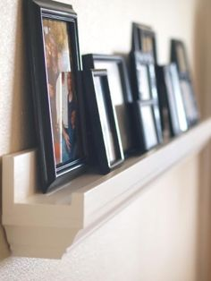 Crown molding as shelf love this idea for the livingroom at the Amesbury condo