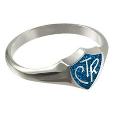Blue Sparkle Regular Sterling Silver CTR Ring - Women's CTR Rings - CTR Rings - LDS Jewelry