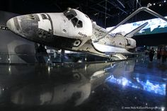 """Beauty meets technological wonder! The shuttle """"Atlantis"""" at the Kennedy Space Center exhibit opening, June 2013"""