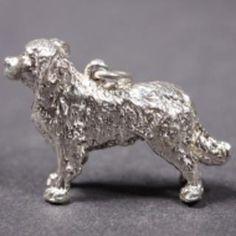 Bernese Mountain Dog silver PENDANT XL