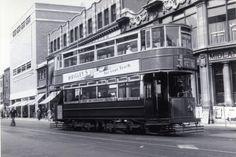 Trams along Camden Camden London, Camden Town, London Bus, North London, Old London, West London, London Transport, London Photos, Old Photos