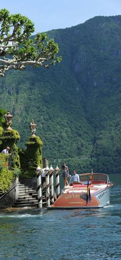 A weekend getaway at Villa Balbianello on Lake Como in Lenno, Italy • photo: J Craft Boats