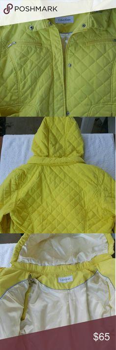WOMEN  CALVIN KLEIN JACKET Slightly Worn/Removable Hood/Zipper andSnap buttons/Four Pockets Calvin Klein Jackets & Coats