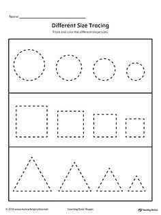 tracing pages for preschool kids worksheets printable pinterest preschool worksheets and. Black Bedroom Furniture Sets. Home Design Ideas
