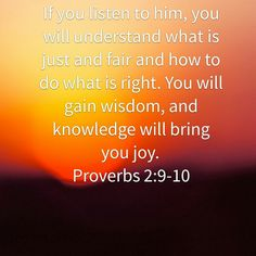 Proverbs 2:9-10