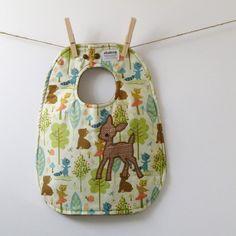 Woodland Deer Baby BIb  Gender Neutral Baby Shower by HipViolet