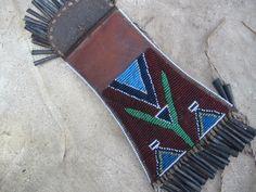 Kiowa style strike a light bag detail made by Jaroslav Karlicek and Xenie Rajnochova of the Czech Republic