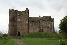 Doune Castle is a medieval stronghold near the village of Doune, in the Stirling district of central Scotland. The castle is sited on a wooded bend where the Ardoch Burn flows into the River Teith. It lies 8 miles (13 km) north-west of Stirling, where the Teith flows into the River Forth. AKA the Monty Python castle