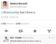 This though :') Andrea Russett and Kian Lawley