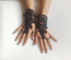 Hey, I found this really awesome Etsy listing at https://www.etsy.com/listing/172011700/black-lace-gloves-french-lace-bridal