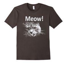 Amazon.com: Trendy shirts Meow Cat Face Funny Shirt: Clothing