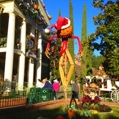"""go to disneyland during halloween to see the """"nightmare before christmas"""" haunted mansion :)"""