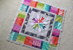 Freshly Pieced Modern Quilts: WIP Wednesday: In Technicolor