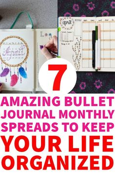 Bullet journal is a great way to organize your life. Here I collect the best bullet journal monthly spreads inspiration #bulletjournal #bujo #bulletjournaling