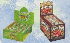 1991 Rowntrees Minty eggs & Smarties Egg Heads