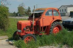 tractor and 2CV cab