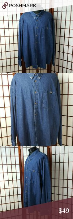 """Men's CABELA'S Jean  Shirt Jacket Size  3XL Pre-owned gently worn  CABELA'S size 3xl Worlds foremost outfitter outdoor gear  Made of 100% cotton Jean Shirt Jacket style   Measurements approximate  Pit to pit 31"""" Shoulder to hem 34"""" cabela's Shirts"""