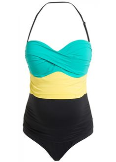 Noppies - Colourblock One-Piece Maternity Swimsuit.  Eye-catching & glamourous. Wish I had one for non-preggo days.