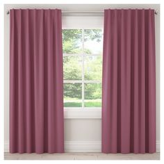 "Unlined Zuma Curtain Panel Purple (50""x120""), new"