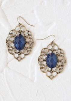 Vintage Roses Earrings In Sapphire   Modern Vintage New Arrivals
